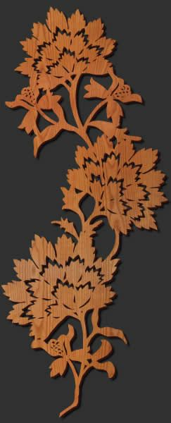 Laser cut wood wall decor
