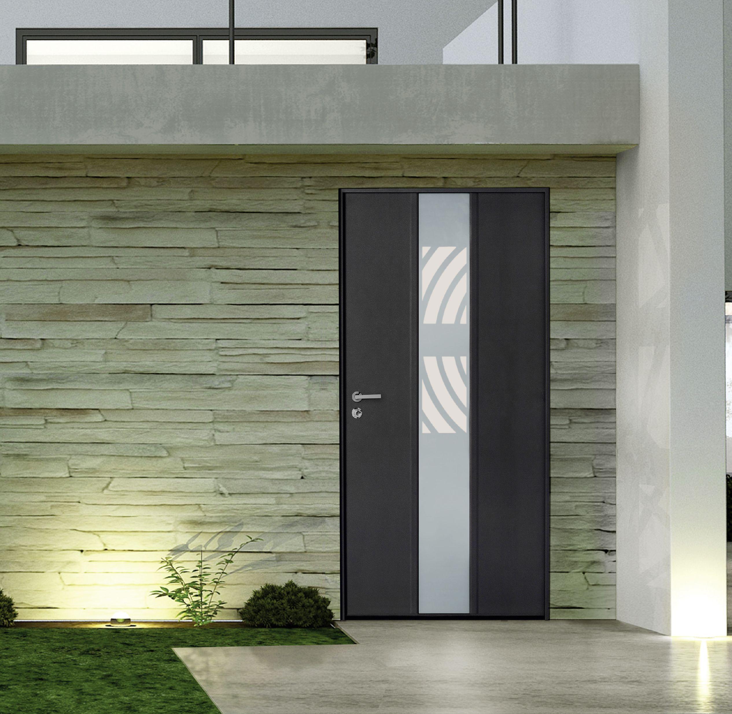 Porte Blindée Vitrée Pavillonnaire Eclat Portes Blindées - Porte placard coulissante avec portes blindées fichet