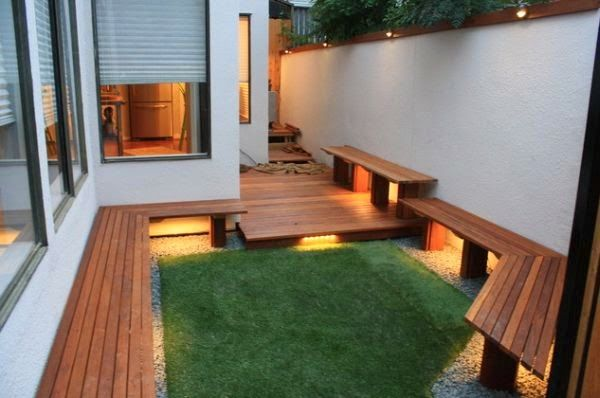 Patios y jardines decoracion de patios pequenos y estrechos patio principal pinterest - Decoracion de patios pequenos ...
