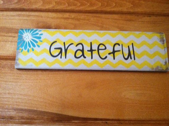 Grateful sign 13w x 3 1/2 tall hand-painted wood by OttCreatives