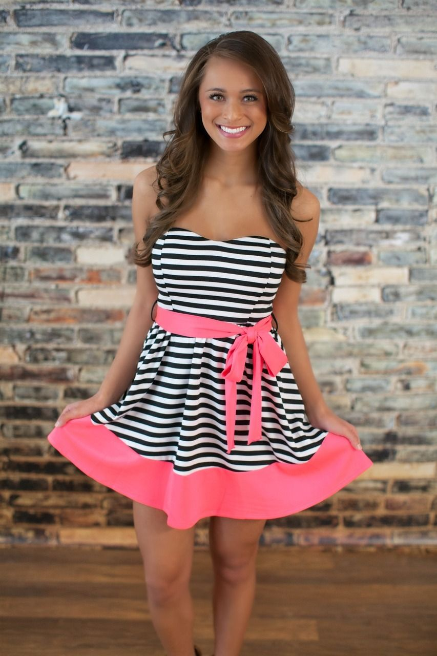 The Pink Lily Boutique - A New You Stripe Dress, $38.00 (http://thepinklilyboutique.com/a-new-you-stripe-dress/)