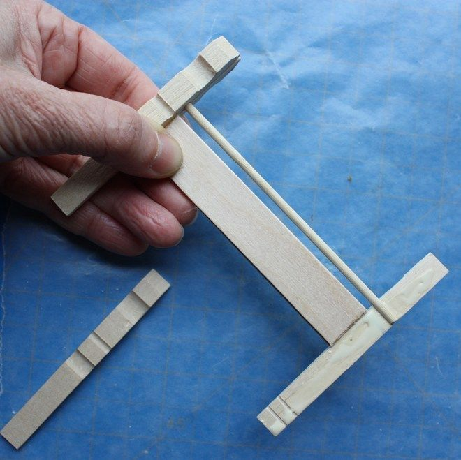 how to make a doll house bed from clothespins – part one – ann wood handmade #dollaccessories