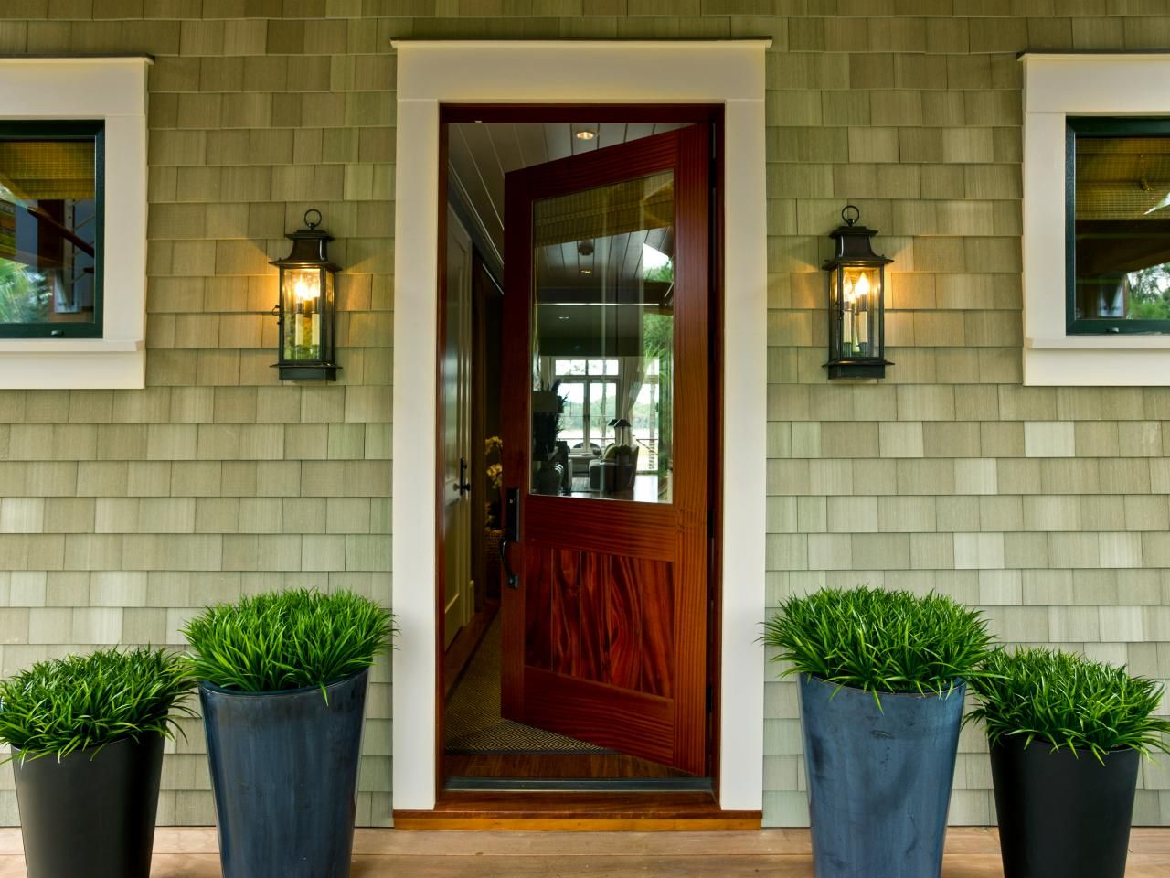 Dream home 2013 front porch hgtv curb appeal and for Front patio doors