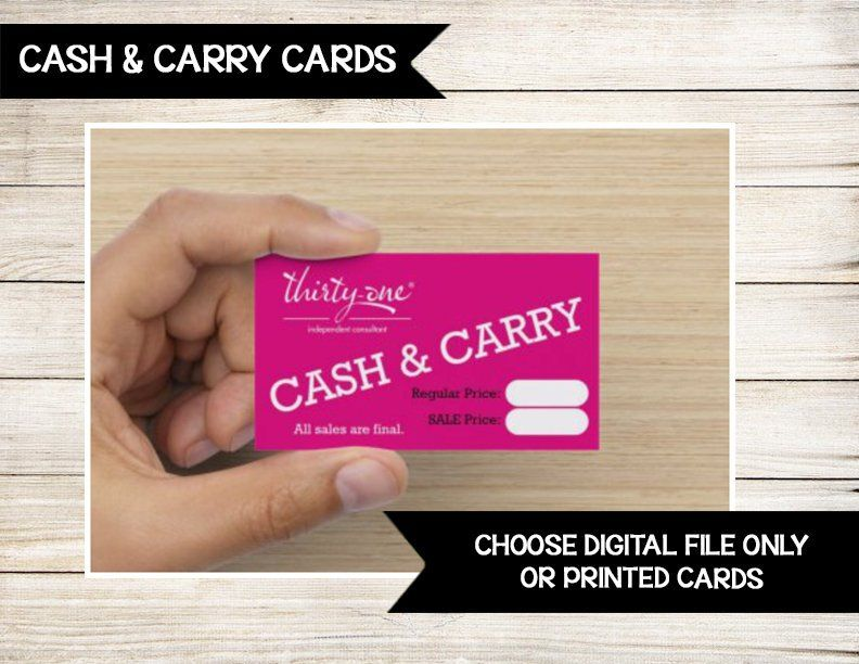 Cash and Carry Cards Business Cards Vendor Events