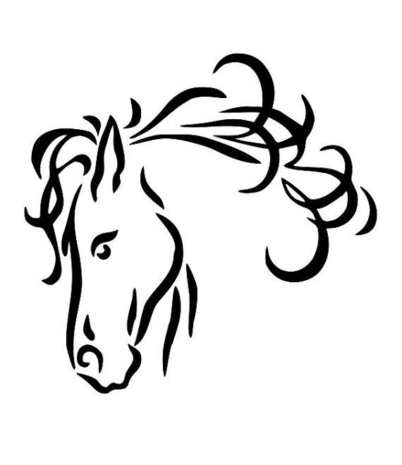 Line Drawing Pictures : Horse line drawings clip art head drawing