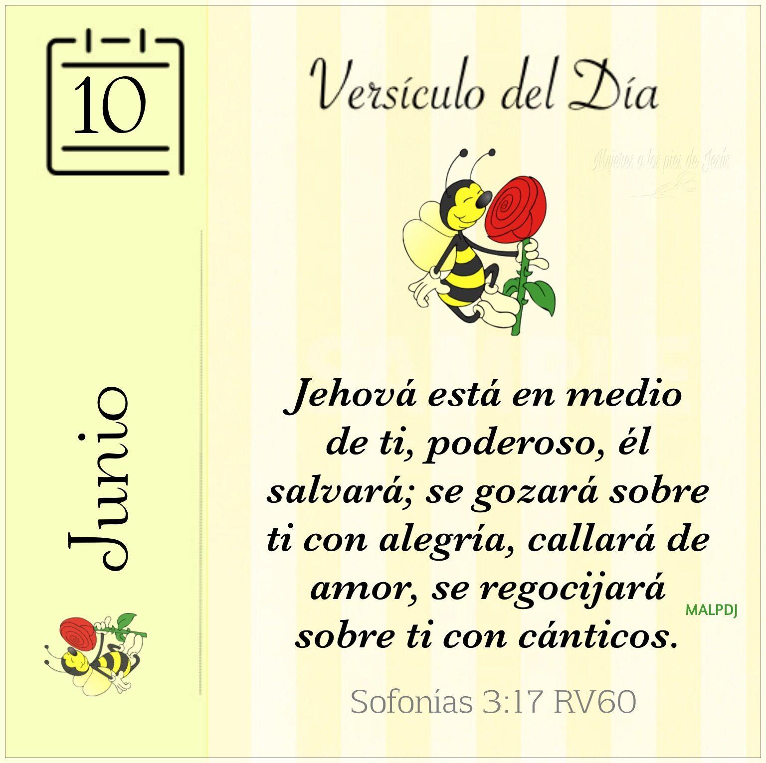 Versiculo Del Dia Sofonias 3 17 Rv60 Citas De La Biblia Palabra De Dios Palabras