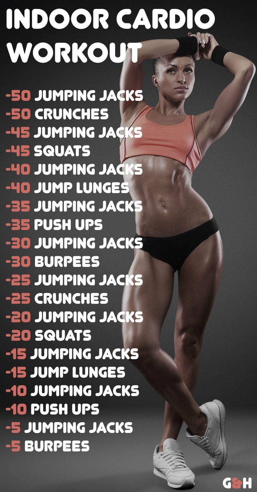 30-min Indoor Cardio Workout. Fat Burning Workout
