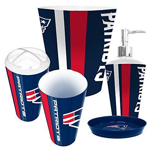 New England Patriots 5 Piece Bathroom Set New England Patriots