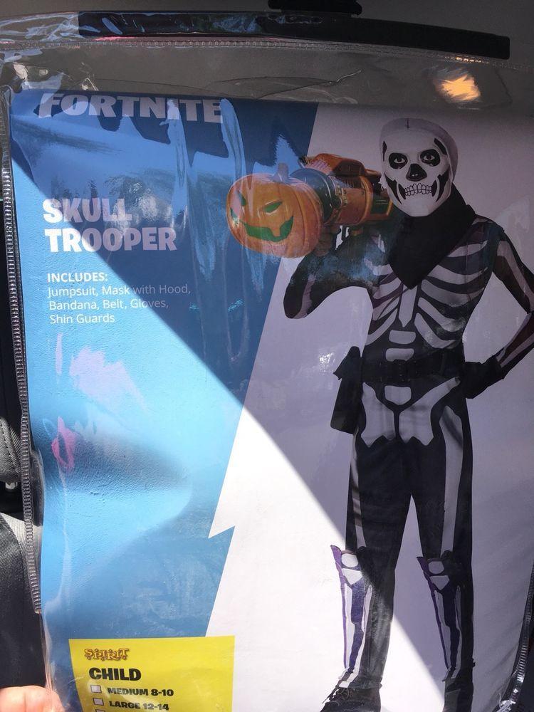 Epic Games Fortnite Boys Skull Trooper Halloween Costume Sz Xl 14