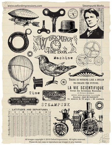 Steampunk Works Rubber Stamp Collection #rubberstamping