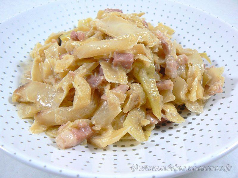 Chou blanc aux lardons façon potée | Une cuisine pour Voozenoo #poteechouvert