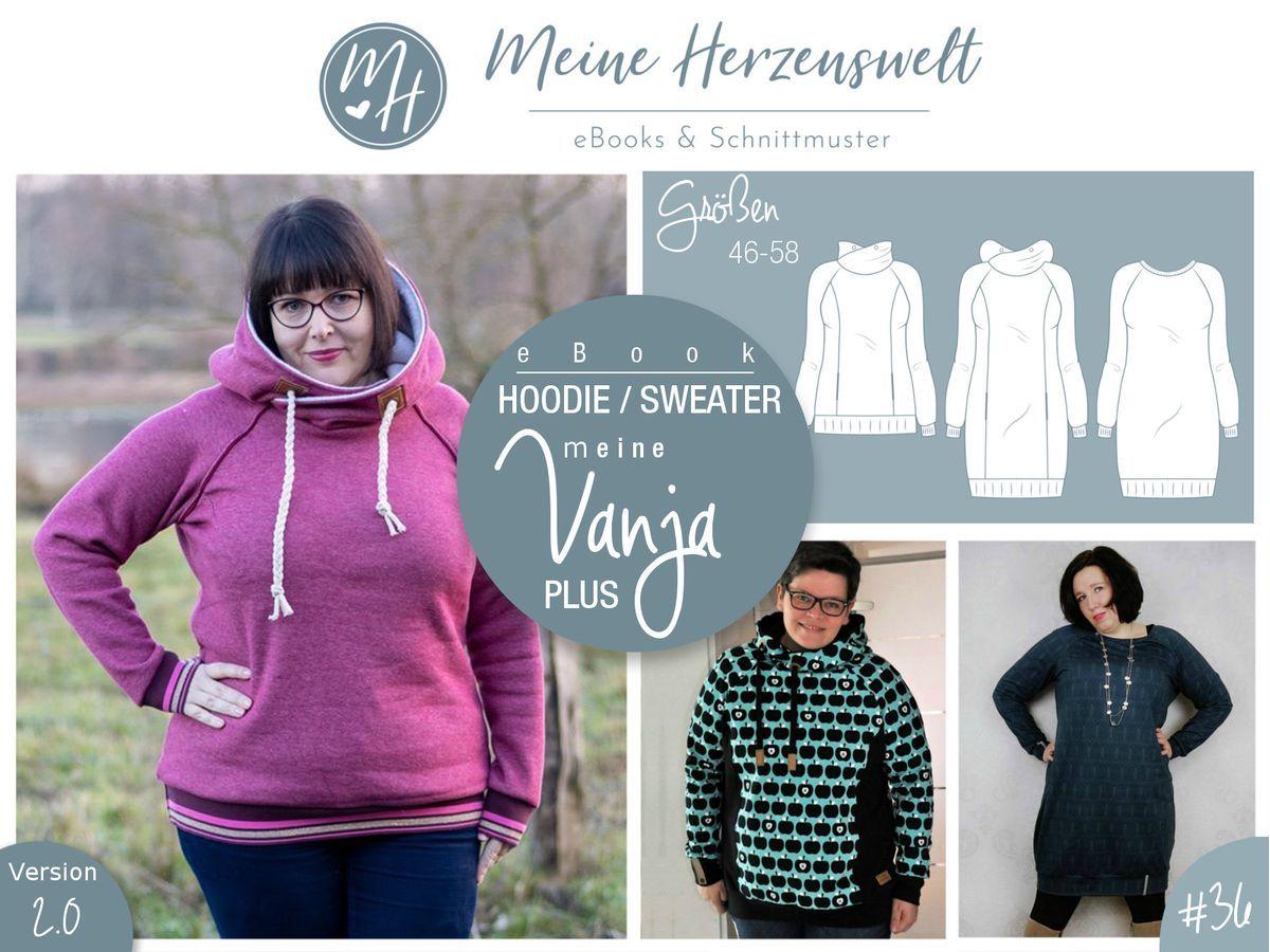 eBook # 36 meine VANJA plus Hoodie Sweater Größe 48