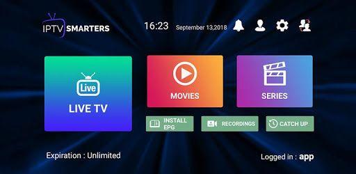 IPTV Smarters Pro App is a Live IPTV app for endusers