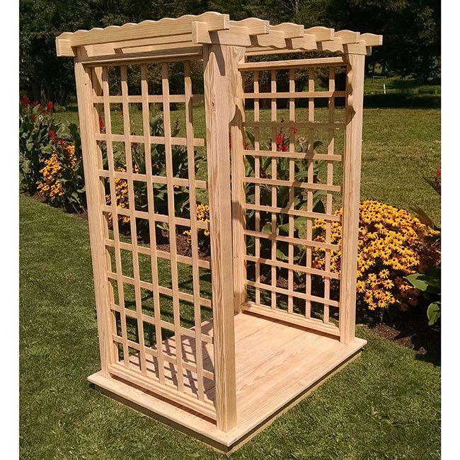 Pressure-Treated Pine Lexington 6ft. Garden Arbor With Deck