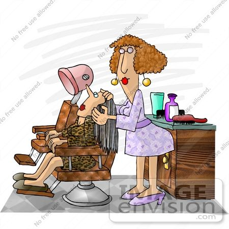 Hairdresser Woman Working On Her Client Clipart 17422 By Djart Royalty Free Stock Cliparts Beauty Salon Pictures Cartoon Hair Beauty Salon Posters