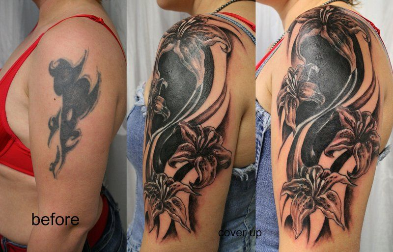 Cover Up Tattoos -Black Design | Pretty in Ink