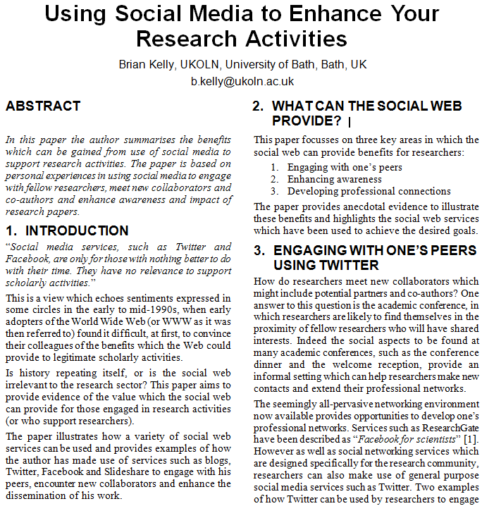 Critical thinking application paper for research