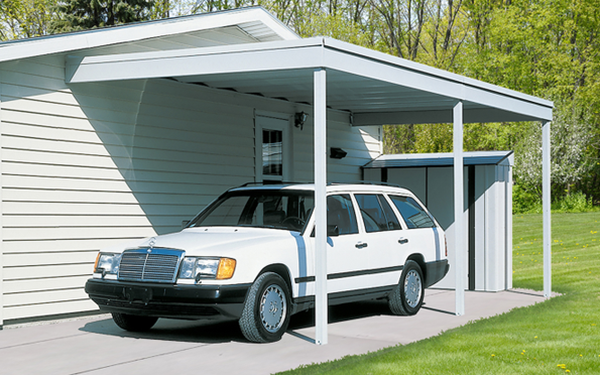 Arrow Wall Attached Steel Carport in 2020 Curved pergola