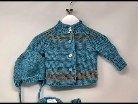Photo of Knit baby jacket SIMPLE – raglan