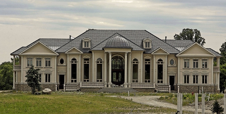 this large mansion is located on gore road in brampton ontario