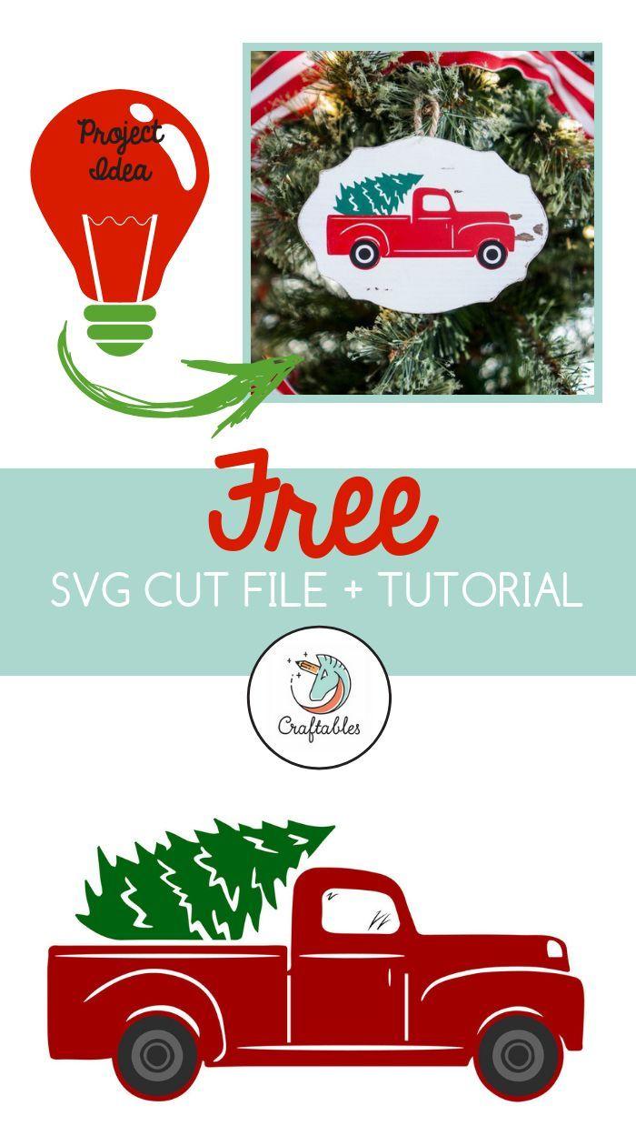 Christmas Tree Truck Svg Free.Free Tree Truck Svg Cut File Crafts Diy Home Decor
