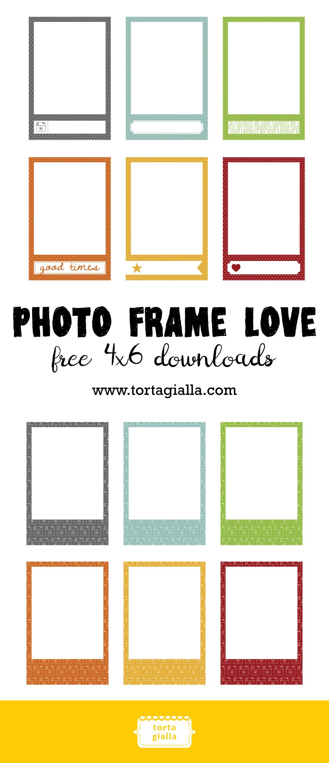 Free 4x6 Photo Frame Love Downloads Tortagialla Picture Frame Template Free Photo Frames Frame Template
