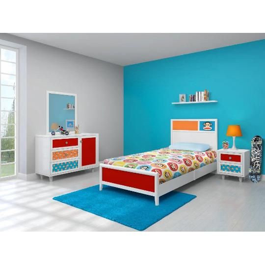 Najarian Nba Youth Bedroom In A Box: Paul Frank By Najarian 6-Piece Twin Bedroom Set