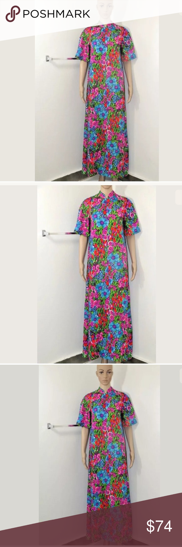 Vintage day gown psychodelic house dress tershe my posh picks