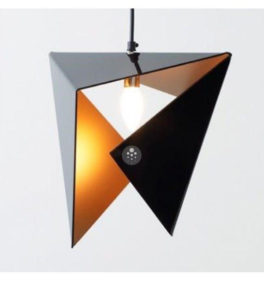 Lámpara de techo dorado negro Delta