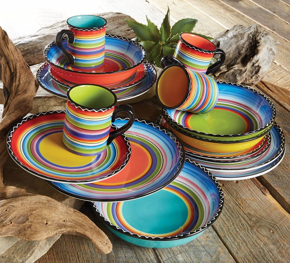 Elegant Tableware For Dining Rooms With Style: Tequila Sunrise Dinnerware Collection