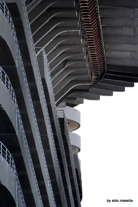 a detail of the steps as seen from outside