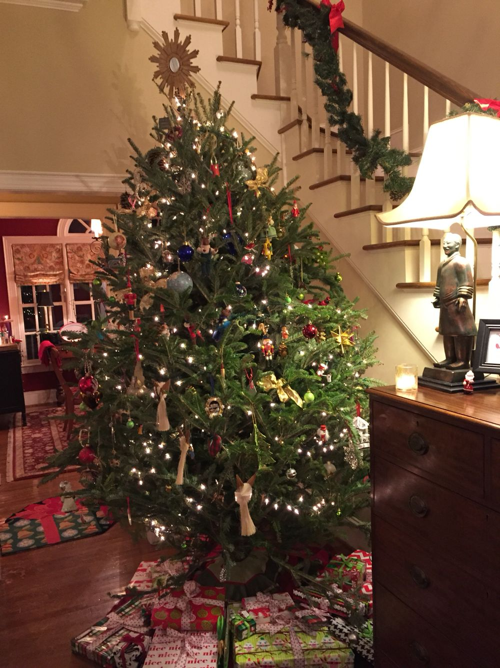 Christmas tree in front hallway holidays pinterest front hallway