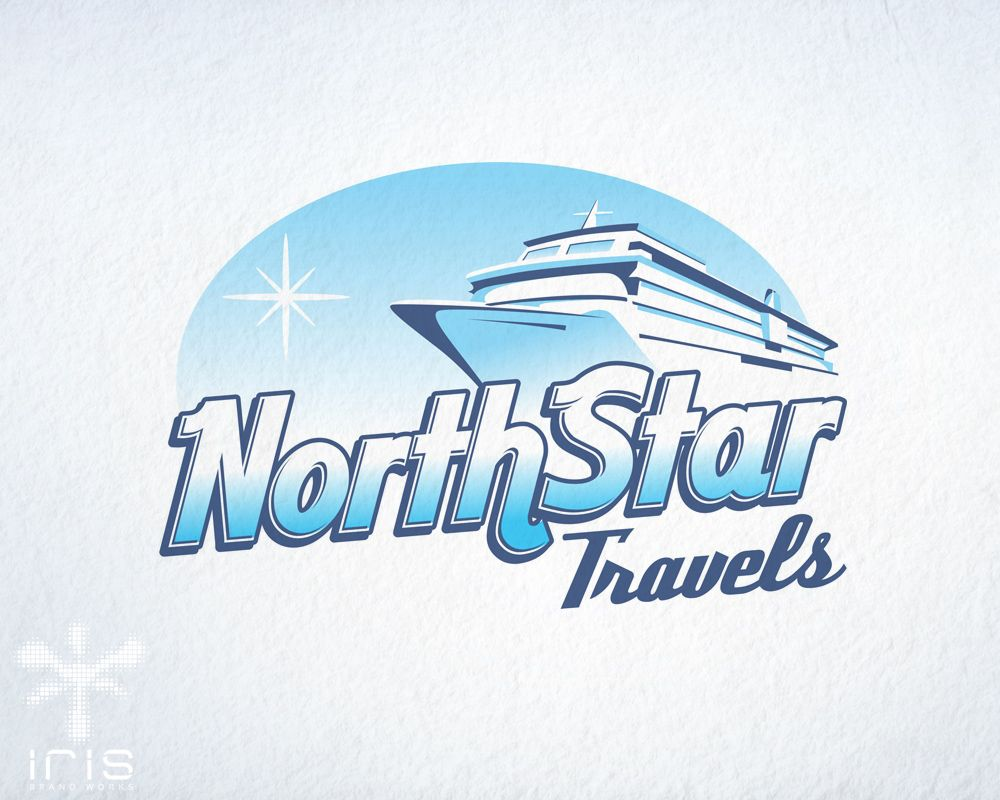 Blue Cruise Ship Logo Travel Agency Logo Logo Design - Cruise ship logos
