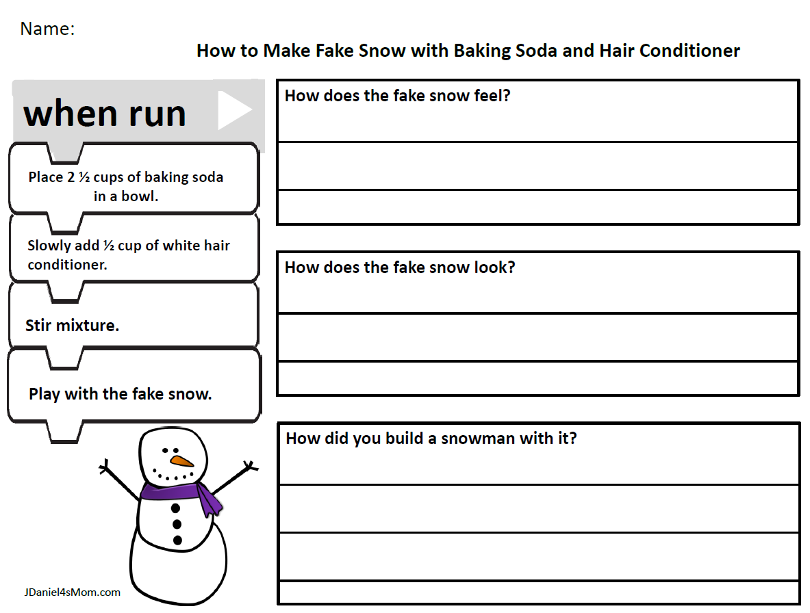 How To Make Fake Snow With Baking Soda And Conditioner