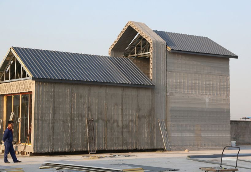 Chinese Company 3d Prints 10 Recycled Concrete Houses In 24 Hours 3d Printed House Concrete Houses 3d Printed Building