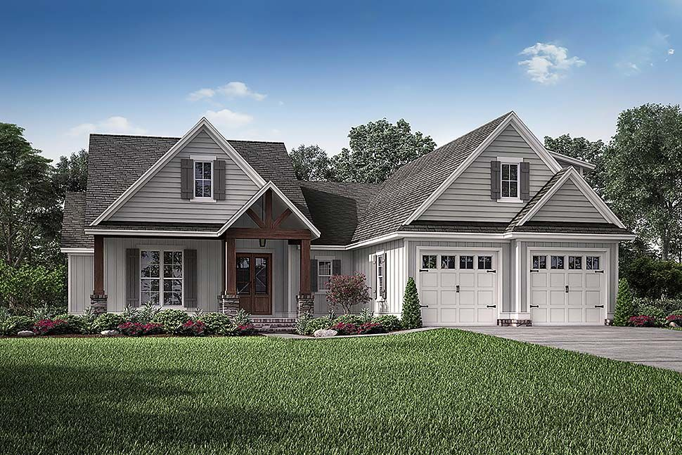 Craftsman Style House Plan 51990 With 3 Bed 2 Bath 2 Car