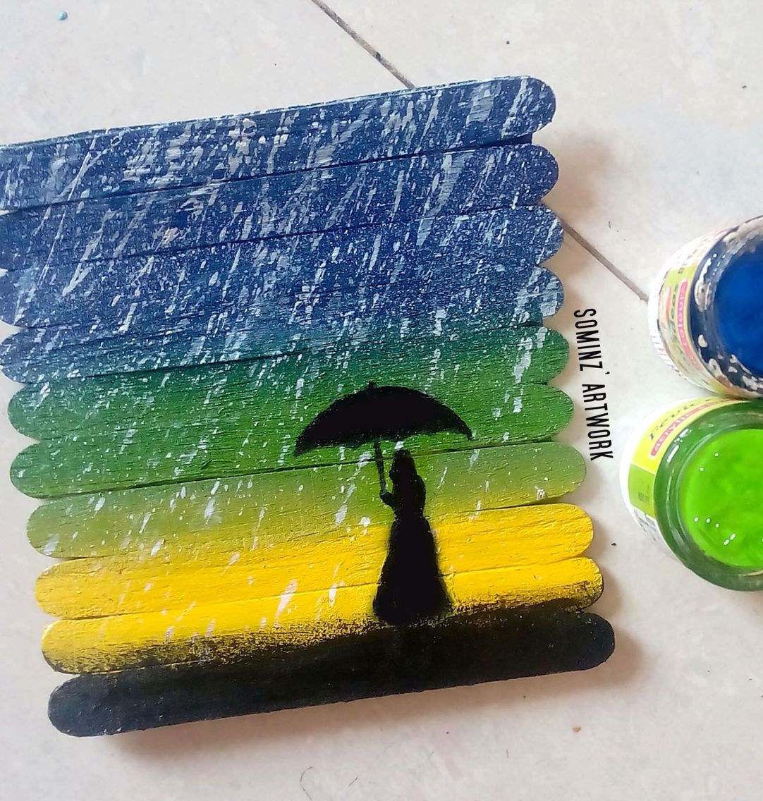 Painting On Ice Cream Sticks Buzlu Dondurma Cubuk Palet Sanati