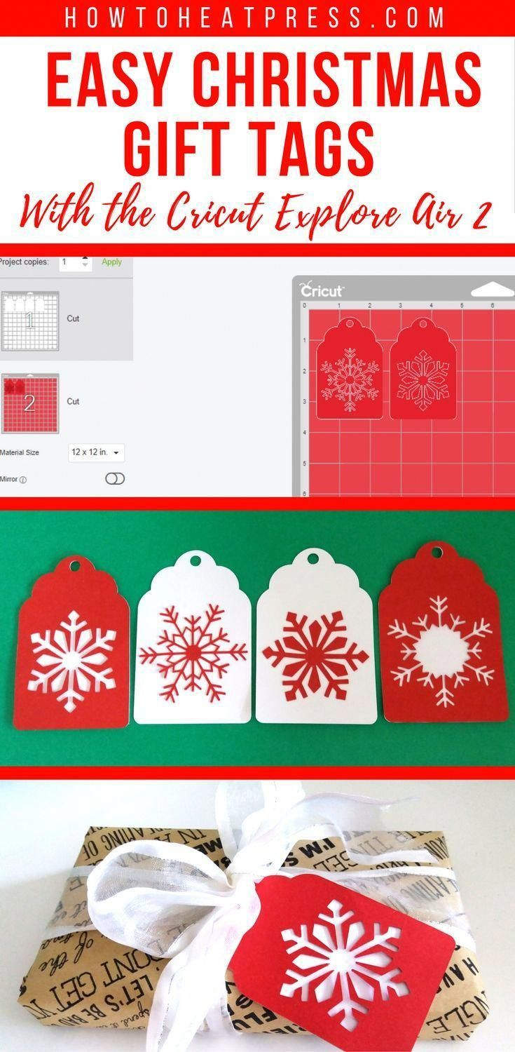 Easy Christmas Gift Tags With The Cricut Explore Air 2 | Cricut Tutorials | Cricut Projects | Cricut Project Ideas | Cricut Christmas #christmasgiftforfriends #cricutexploreair2projects