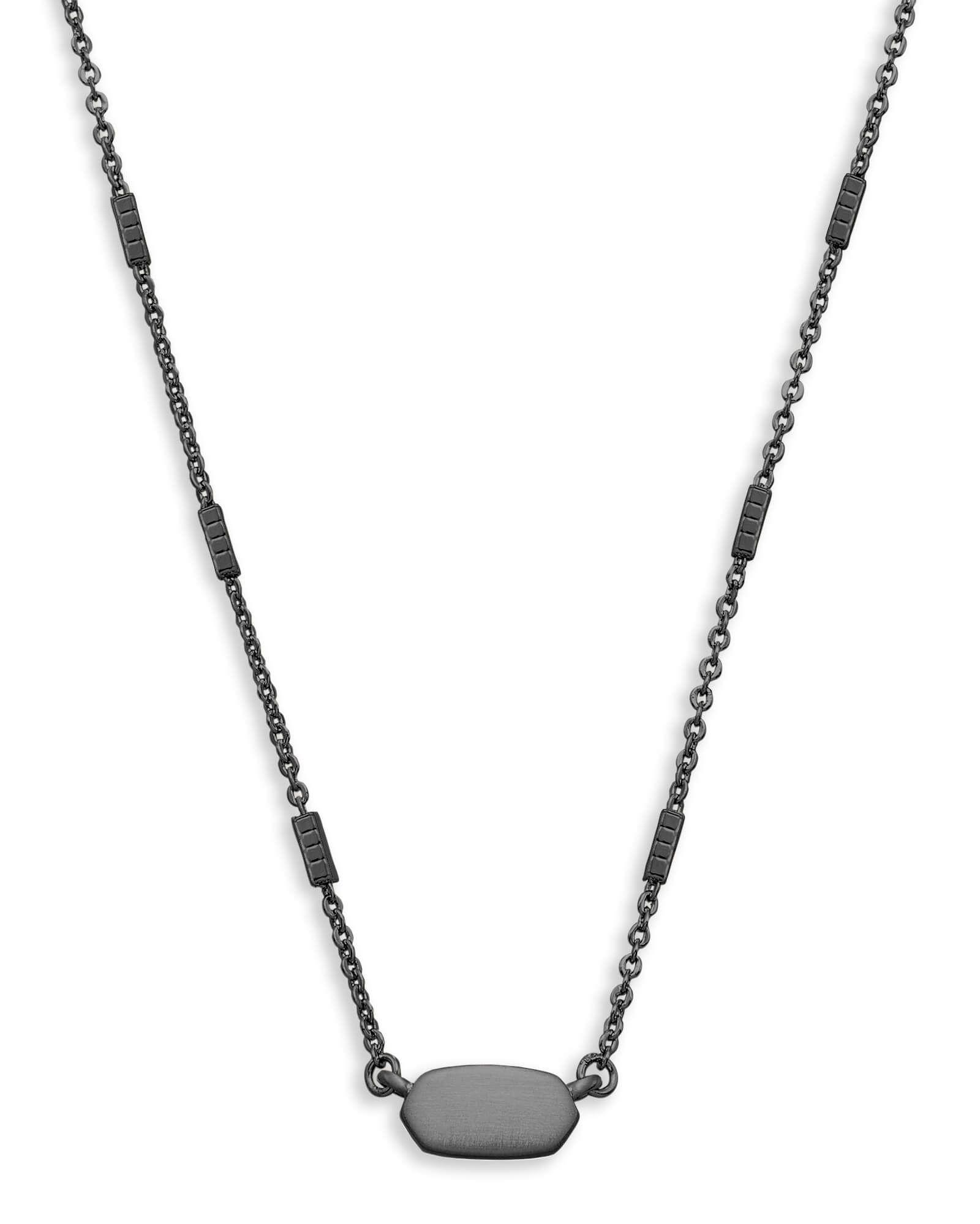 Fern pendant necklace in gunmetal jewelry kendra scott obsession