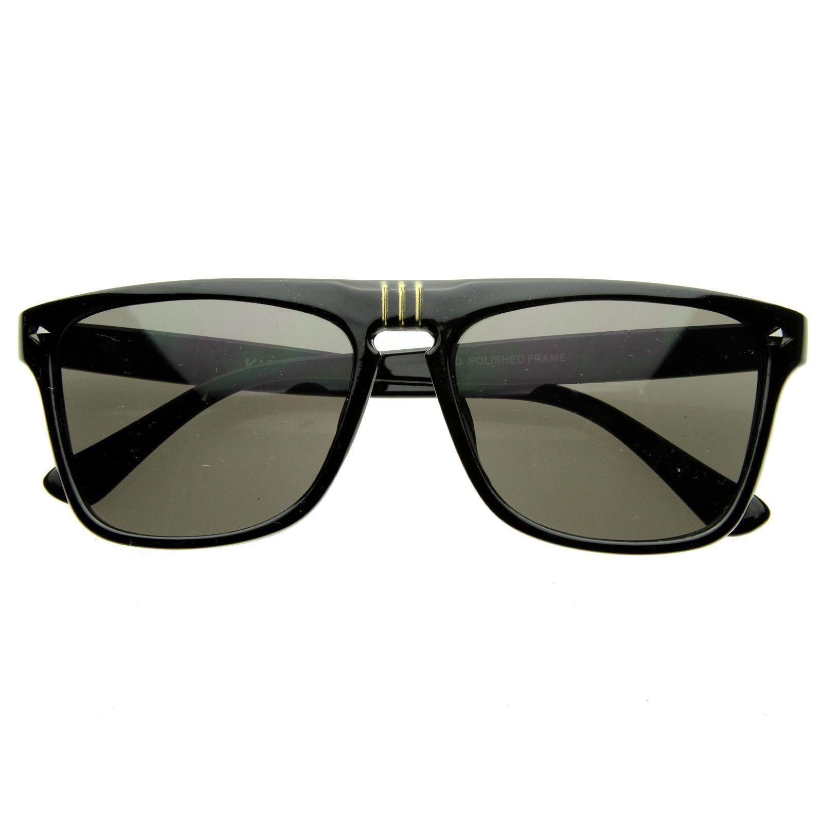 European Mens Designer Flat Top Dapper Sunglasses 8450