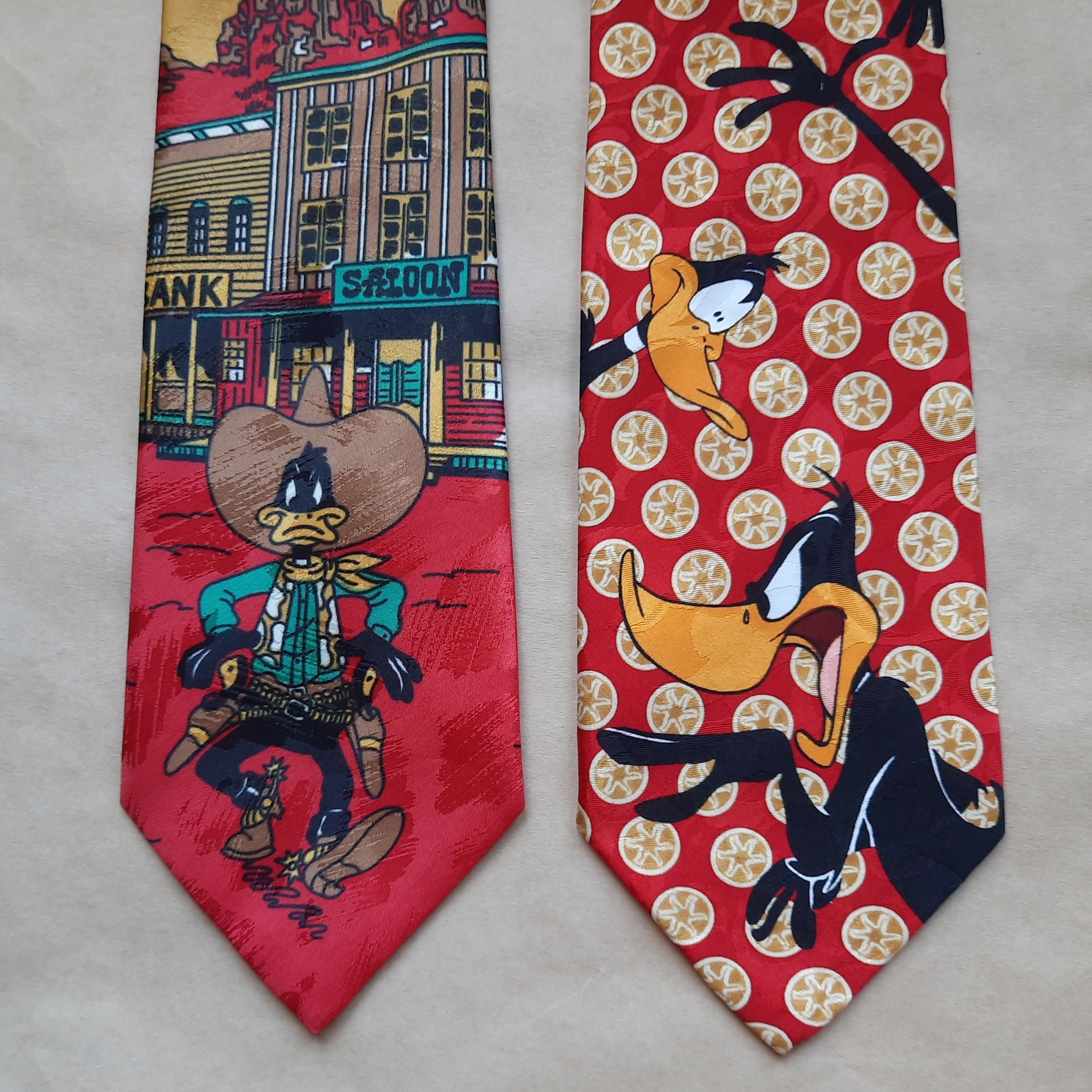 Vintage Necktie Lot  Christmas Ties  Cartoon Neckties N95