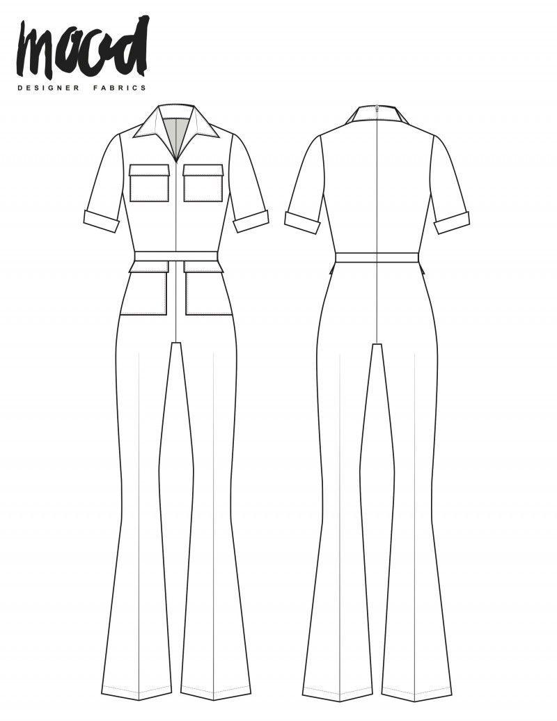 Jumpsuit Pattern Free : jumpsuit, pattern, Cherry, Jumpsuit, Sewing, Pattern, Sewciety, Sewing,, Fashion, Dress, Patterns