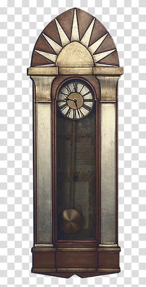 Art Deco Brown And Gray Wooden Grandfather S Clock Transparent Background Png Clipart In 2021 Art Deco Transparent Background Art