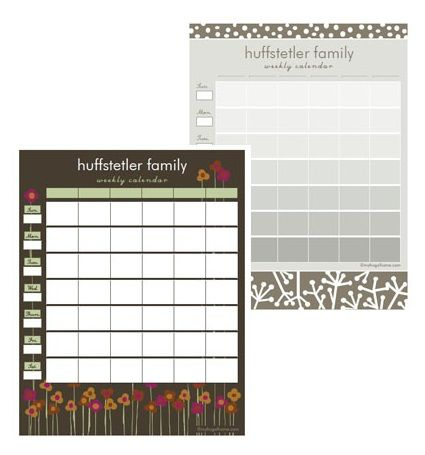 Printable Family Calendars Family Calendar Organization Inspiration Cleaning Printable