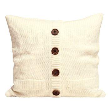 James Home Woolen Tina Pillow Decorative Pillow Gray