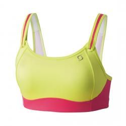 Moving Comfort Womens Fiona Sports Support Bra Top Pink Gym Breathable