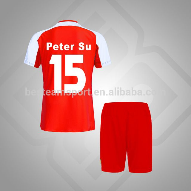 Rojo Blanco de encargo Profesional logo uniformes de fútbol jersey de los  deportes nuevo modelo-en Equipación de Fútbol de Ropa Deportiva en ... 3a6fd444c2432