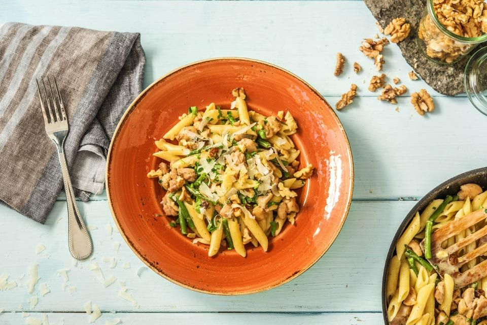 Venetian Chicken Pasta With Honey Raisins Walnuts