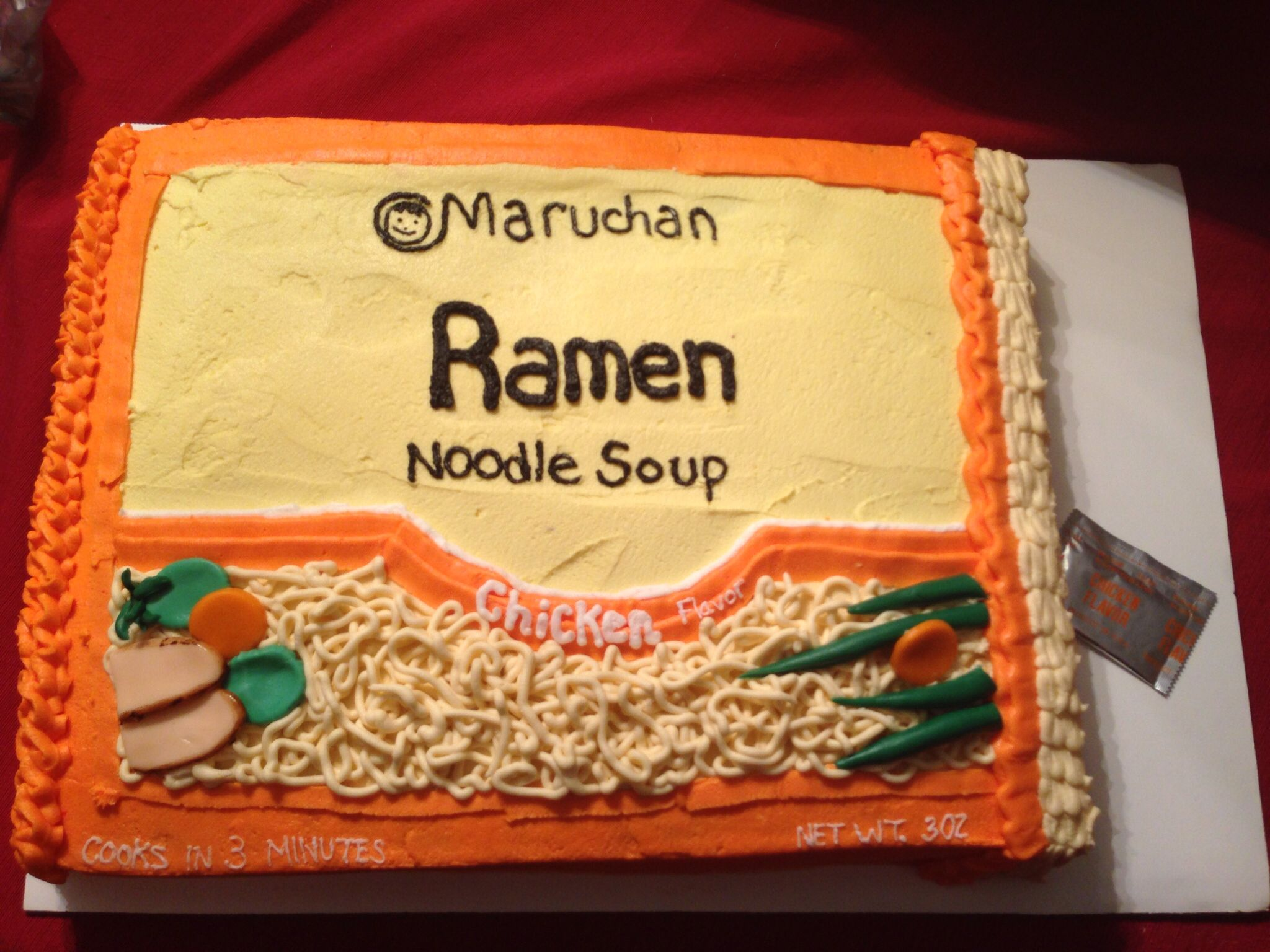 Ramen Noodle Cake Anime cake, Cupcake cakes, Giant oreo cake