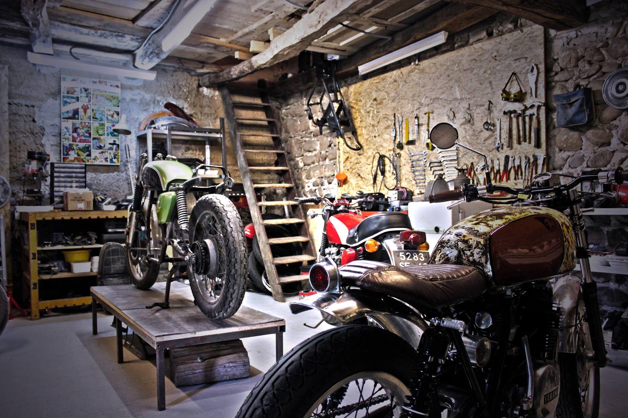 pingl par quely sur my xs 650 build pinterest atelier d co garage et garage. Black Bedroom Furniture Sets. Home Design Ideas